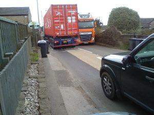 Lorries meet in Flockton - flocktonbypass.co.uk