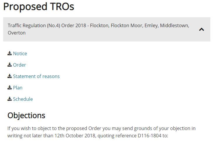 Proposed TRO - flocktonbypass.co.uk