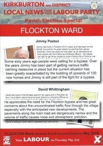 Labour leaflet bypass - flocktonbypass.co.uk